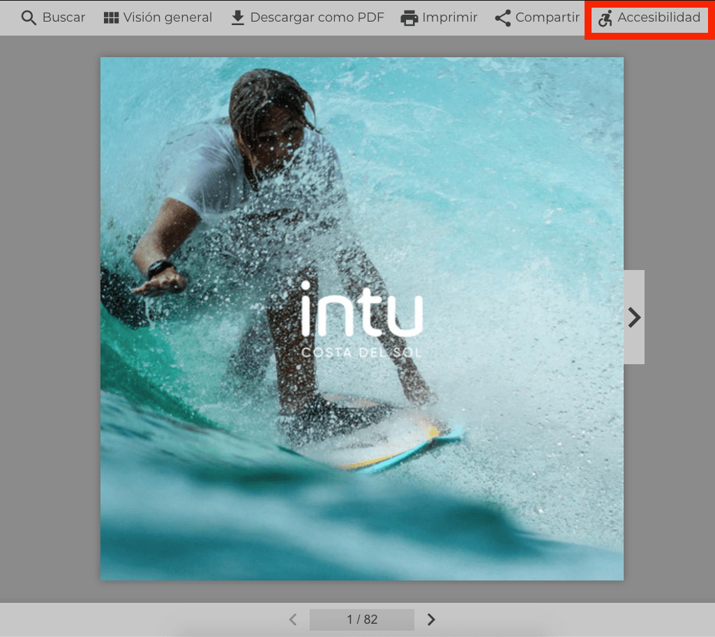 Accesibilidad de Flipbook - Visor accesible