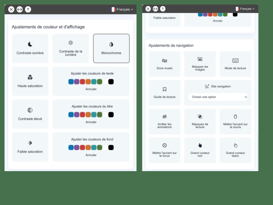 Accessibilité du Flipbook - Adaptations au handicap