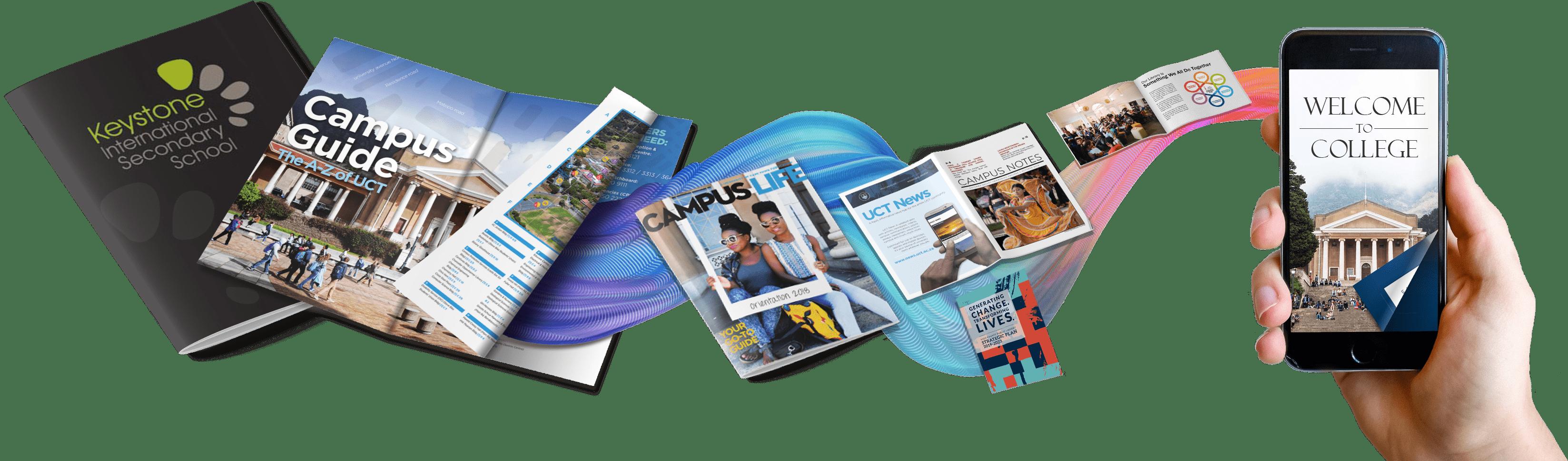 School brochures graphic