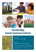 Online school brochure example - Cambridge Senior Summer School
