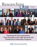 Example of online school brochure - American Bar Foundation