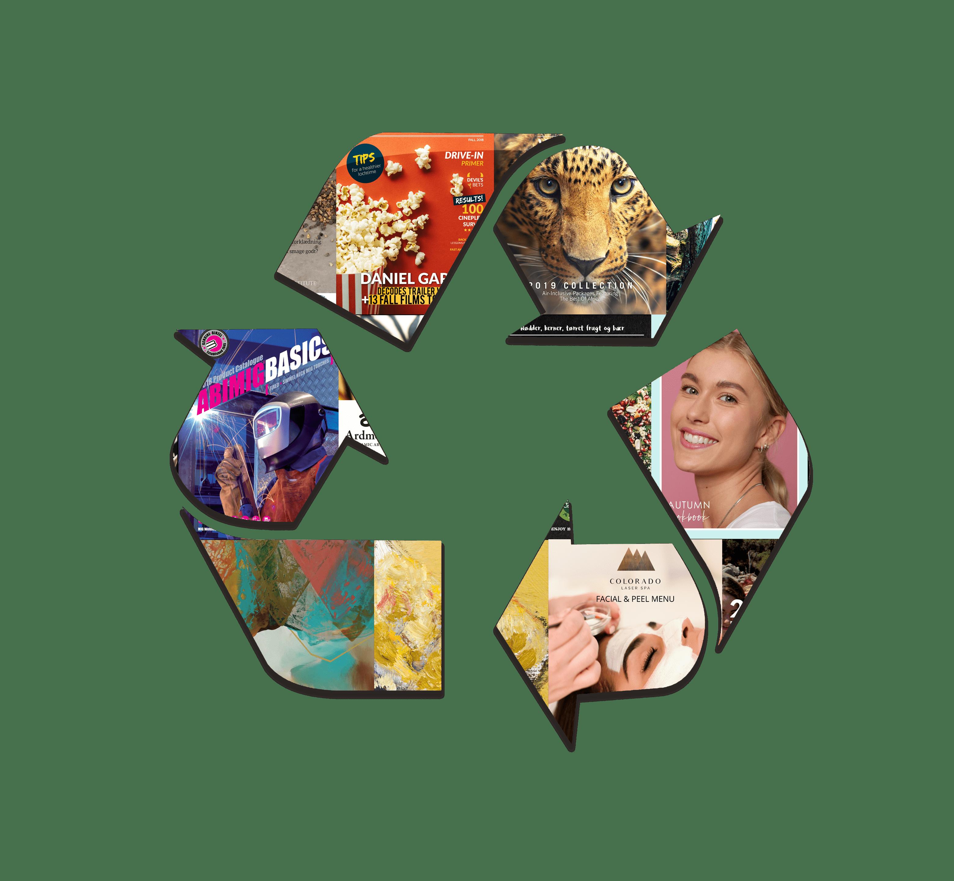Eco-friendly digital publications graphic