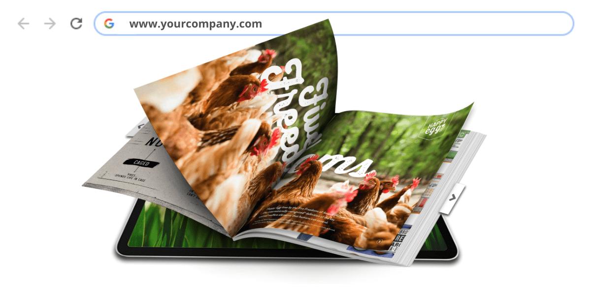 Setting a custom URL on your flipbook