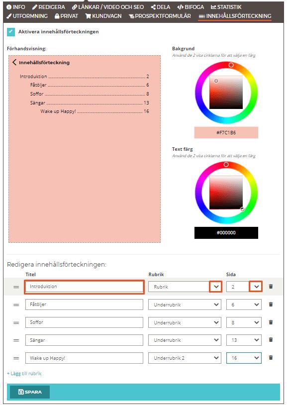 Hur du skapar en innehållsförteckning i din blädderbok - Lägga till rubriker - Steg 2