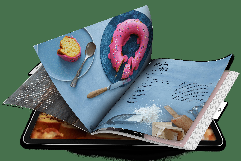 Recipe eBook displayed in iPad